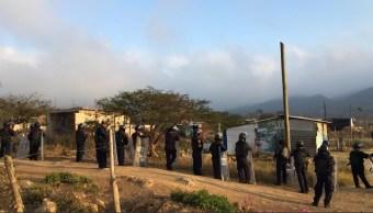 Foto: Desalojo de predio en Chiapas, 22 de marzo 2019. Twitter @FGEChiapas