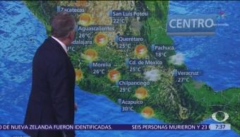 Despierta con Tiempo: Probabilidad de lluvia en el centro del país