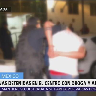 Detienen a 6 hombres con drogas en Centro Histórico de CDMX