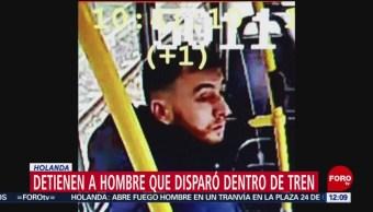 FOTO: Detienen a hombre que disparó dentro de tren en Holanda, 18 marzo 2019