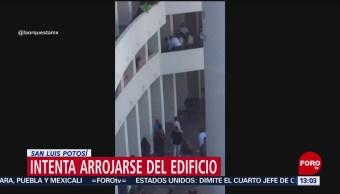 FOTO: Difunden video de un hombre que intentó suicidarse en San Luis Potosí, 8 MARZO 2019
