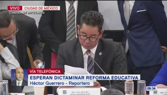 Diputados sesionan sobre reforma educativa