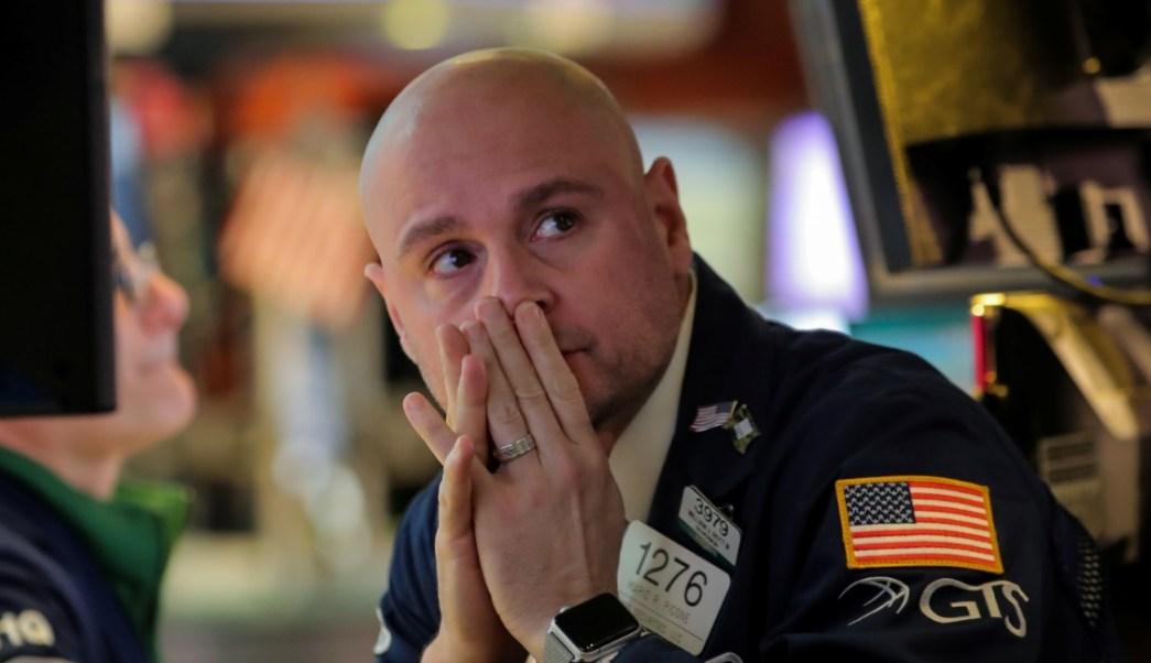 Foto: Un comerciante trabaja durante el anuncio de la tasa de la Fed en el piso de la NYSE en Nueva York, marzo 20 de 2019 (Reuters)