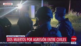 FOTO: Dos personas murieron durante una agresión entre civiles en Sinaloa, 10 marzo 2019