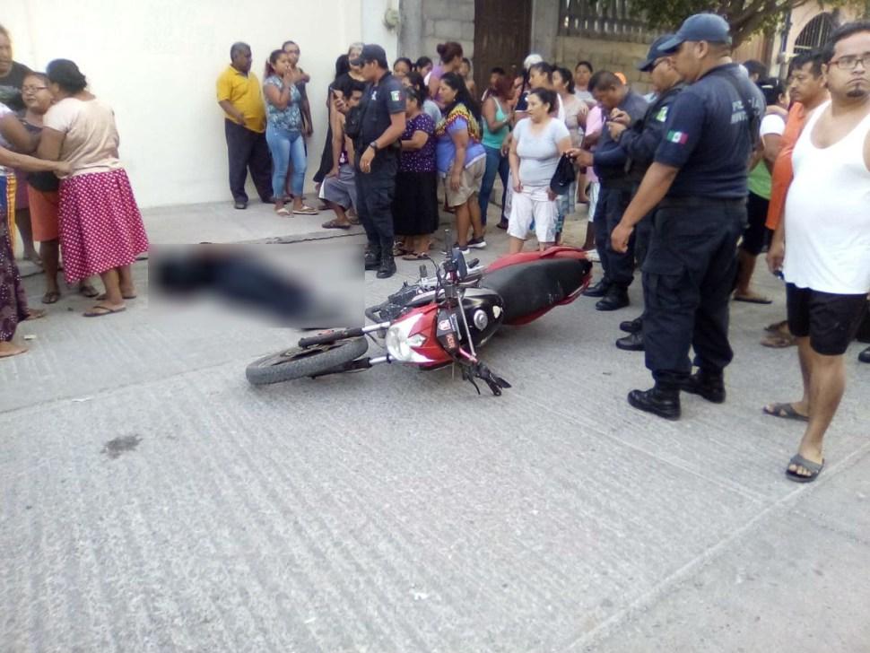 Foto Ejecutan a policía municipal de Juchitán, Oaxaca 14 marzo 2019