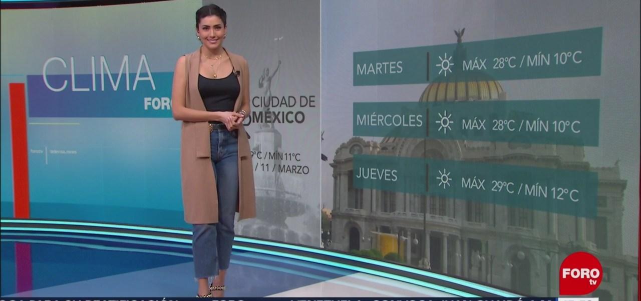 Foto: El Clima 'A las Tres' con Daniela Álvarez del 11 de marzo de 2019