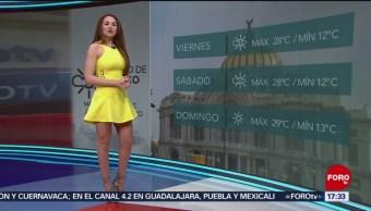 Foto: El clima, con Mayte Carranco del 7 de marzo de 2019