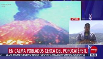 Foto: En calma poblados cerca del Popocatépetl tras explosión