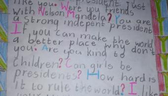 FOTO En carta, niña pregunta si puede ser presidenta en Sudáfrica Twitter @CyrilRamaphosa 7 marzo 2019 sudafrica