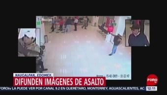 Foto: En segundos, criminales asaltan un banco en Naucalpan