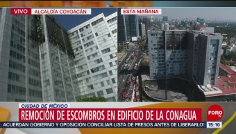 FOTO:Equipos de emergencia se retiran de edificio de Conagua, 23 Marzo 2019