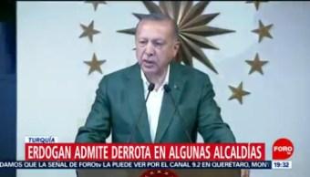 FOTO: Erdogan admite derrota en algunas alcaldías en Turquía, 31 Marzo 2019