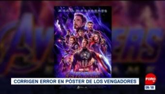 #EspectáculosenExpreso: Corrigen error en póster de los vengadores