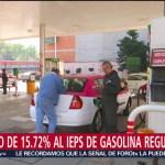 Estímulo de 15.72% al IEPS de gasolina regular