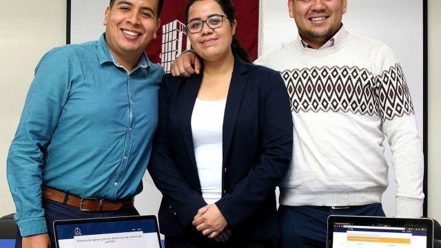 Foto: El sistema fue creado por Ximena Cortés, Isaac Aguirre y Sergio Martínez Ávila, alumnos de la Escuela Superior de Cómputo del IPN, el 17 de marzo de 2019 (Twitter @IPN_MX)