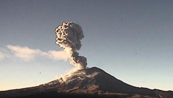 FOTO Explosiones del Popocatépetl envían ceniza hacia Puebla Cenapred puebla 13 marzo 2019