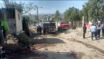 Foto: Explosión de polvorín en Edomex, 26 de marzo 2019. Twitter @vulcano_7