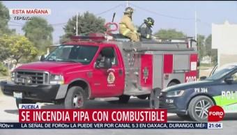 Foto: Explota Pipa Combustible Tepeaca Puebla 22 de Marzo 2019