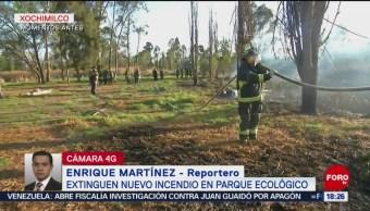 Foto: Extinguen incendio en parque ecológico de Xochimilco