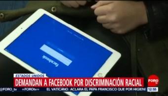Facebook enfrenta demanda en Estados Unidos por discriminación racial