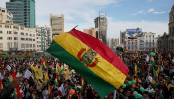 Foto: Opositores protestan en la Plaza San Francisco, en La Paz, Bolivia, contra la reelección del presidente Evo Morales. El 21 de febrero de 2019