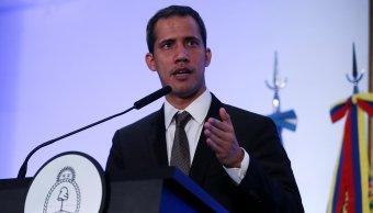 Foto: El líder opositor venezolano, Juan Guaido, habla durante una conferencia de prensa en el Palacio de San Martín en Buenos Aires, Argentina, el 1 de marzo del 2019
