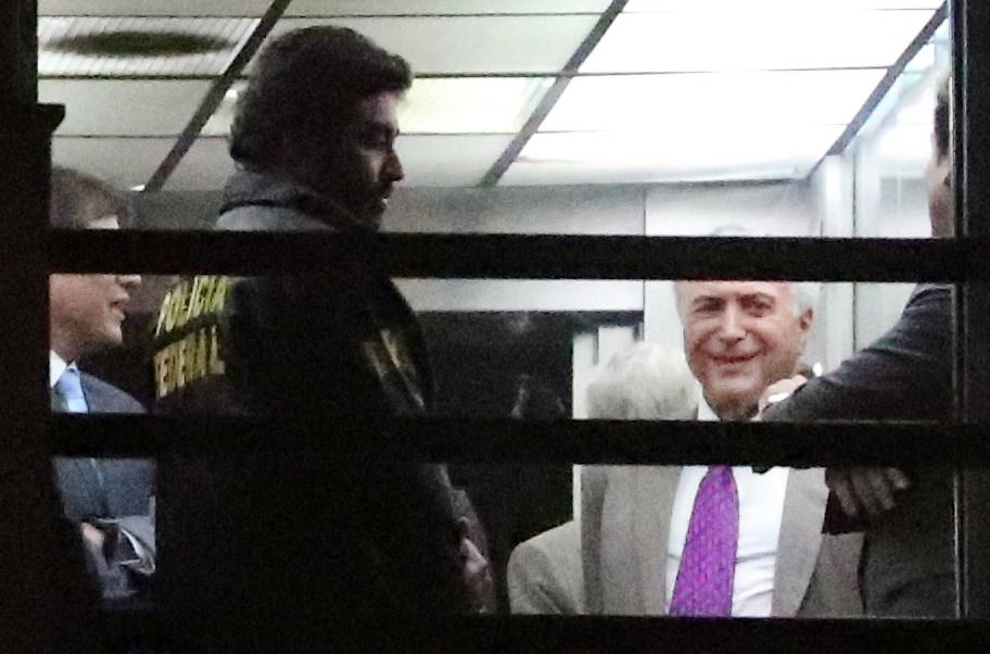 Foto: Captan al expresidente de Brasil, Michel Temer, en la sede de la Policía Federal en Río de Janeiro. El 25 de marzo de 2019