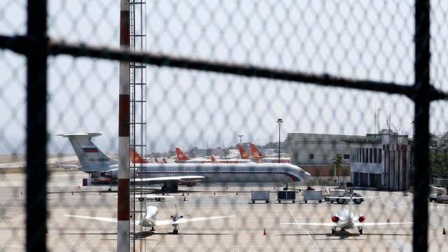Foto: Un avión con bandera rusa estacionado en el Aeropuerto Internacional Simón Bolívar en Caracas, Venezuela. El 24 de marzo de 2019
