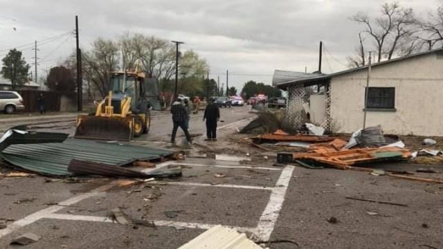 Foto: Un tornado destruyó varias casas en Dexter, Nuevo México, EEUU, el 13 de marzo del 2019