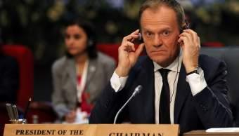 Foto: El presidente del Consejo Europeo, Donald Tusk, asiste a la Cumbre de la Liga Árabe y la UE, en Sharm el-Sheikh, Egipto, el 24 de febrero de 2019