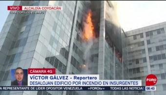 FOTO:Fuerte incendio en edificio de la Conagua, 23 Marzo 2019