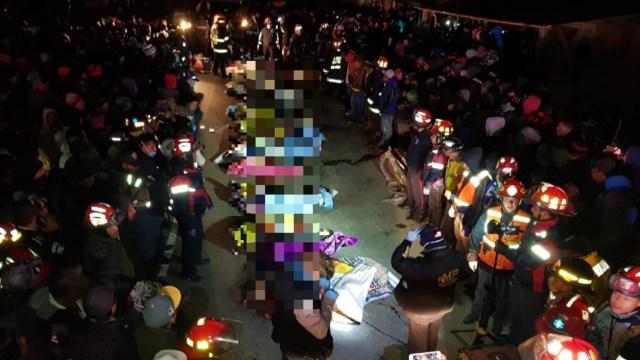 Guatemala: Ajustan a 18 cifra de muertos tras ser embestidos por un tráiler en Sololá