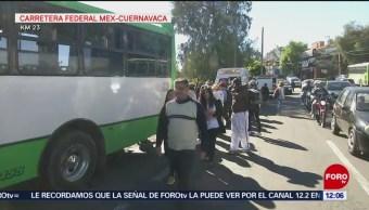 Hablan testigos de choque de autobús en carretera México-Cuernavaca