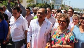 Foto: El gobernador de Guerrero, Héctor Astudillo Flores, lamenta las declaraciones de 'El Bronco' sobre la población del sur de México, el 1 de marzo de 2019 (Twitter @HectorAstudillo)