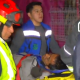 FOTO Un hombre brinca a las vías del Metro Pantitlán y solo se fractura una pierna (Noticieros Televisa 22 marzo 2019 cdmx)