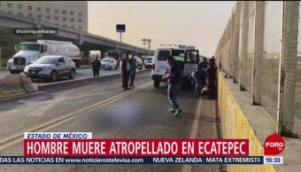 Hombre muere atropellado en Ecatepec, Estado de México