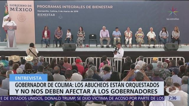 Ignacio Peralta: Abucheos están orquestados y no deben afectar a gobernadores