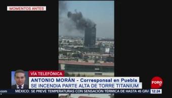 Incendio de Torre Titanium genera columna de humo negro