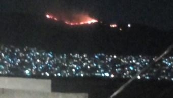 Incendio en pastizales en alcaldía Gustavo A. Madero