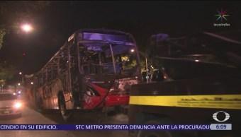 Incendio en Metrobús de la Línea 2 de la CDMX