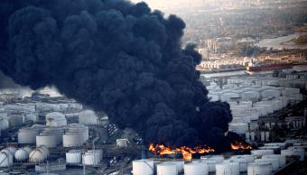 Foto: Incendio en planta petroquímica de Texas, 19 de marzo de 2019, Estados Unidos