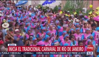 FOTO: Inicia el tradicional carnaval de Río de Janeiro, 2 marzo 2019