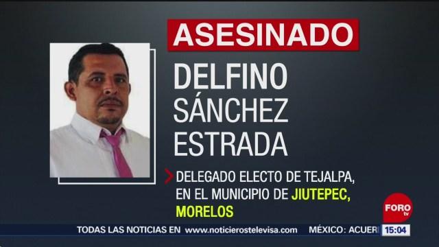 FOTO: Investigan homicidio de delegado en Morelos, 31 Marzo 2019