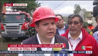 Foto: Irregular, encierro de pipas de gas en Milpa Alta donde hubo incendio