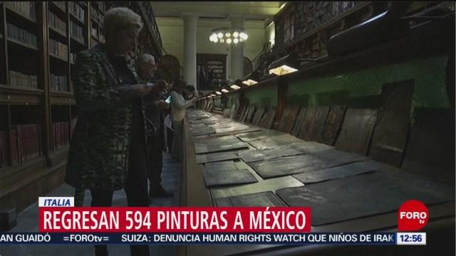 Italia devuelve a México pinturas exportadas ilegalmente
