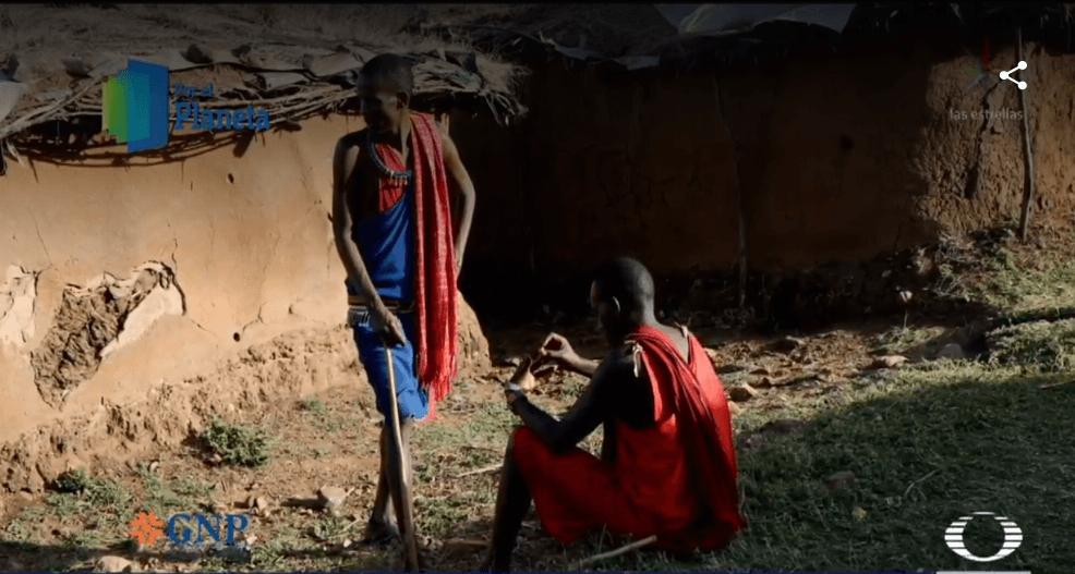 Foto: Jóvenes de la comunidad Masái, febrero 2019, Kenia