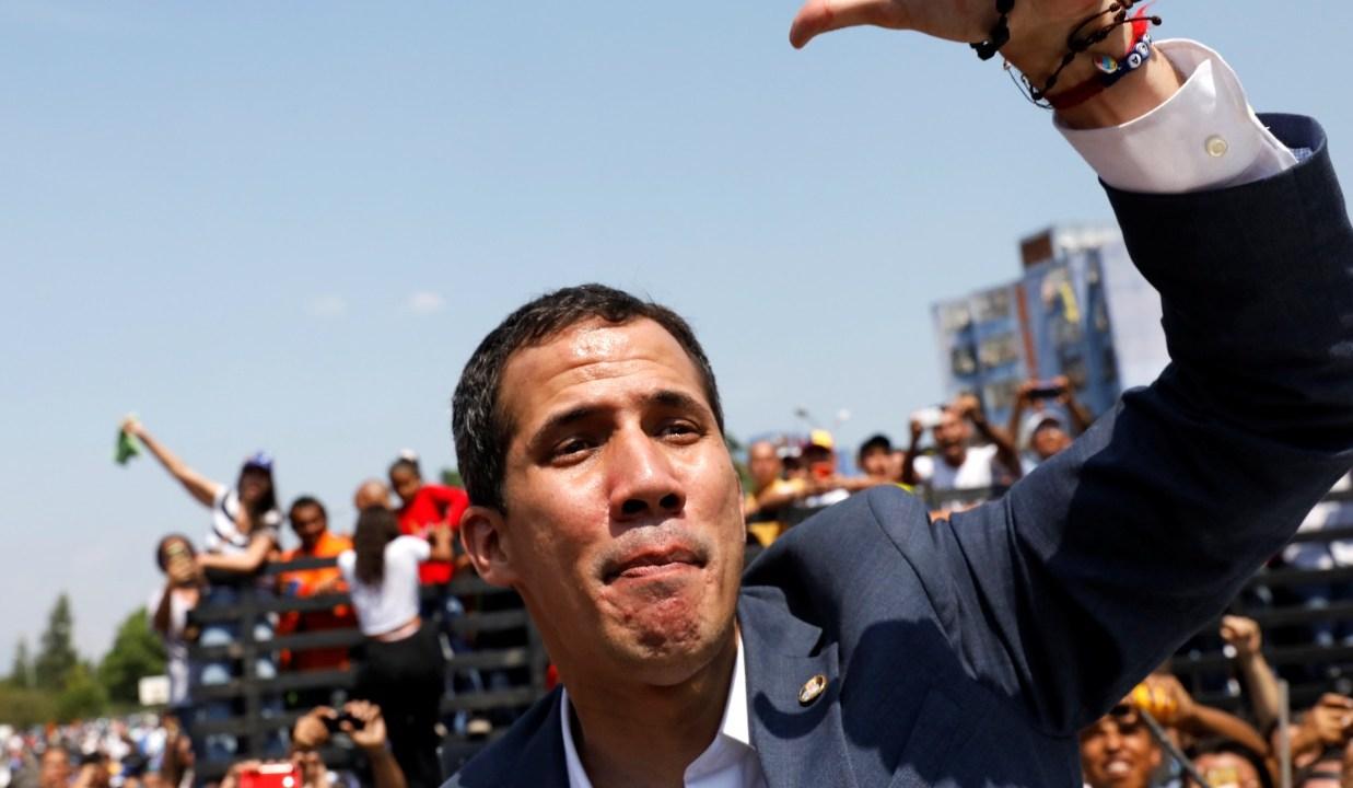 Foto: El opositor Juan Guaidó recorrerá Venezuela para organizar una movilización hacia el palacio presidencial de Miraflores y exigir el cese de Nicolás Maduro, marzo 16 de 2019 (Reuters)