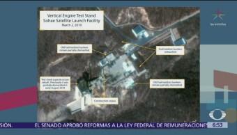 Kim Jong-un inicia reconstrucción de rampa para lanzamiento de cohetes