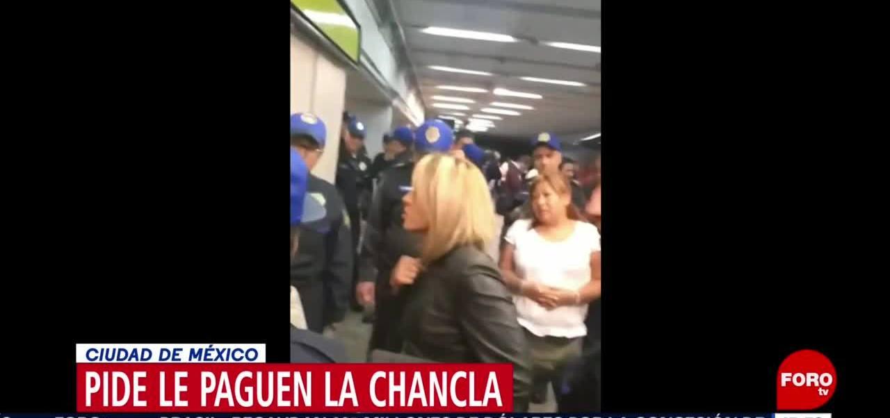 Foto: Lady chanclas exige que detengan a joven que la pisó