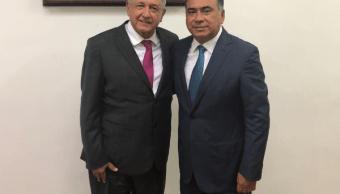 Foto: López Obrador y Héctor Astudillo Flores el 30 de julio de 2018, México
